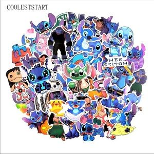 Brand New 50Pcs Lilo and Stitch Random Stickers